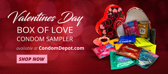 Valentine's Day Box of Love Condom Sampler – Shop now and Save!