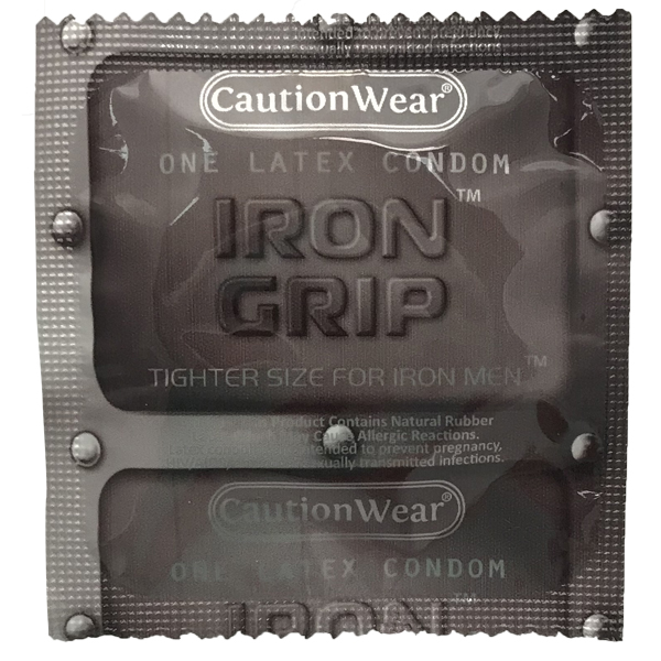 Best Snug-Fit: Caution Wear Iron Grip Condoms
