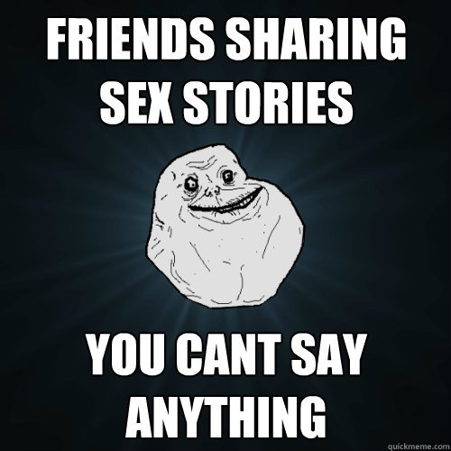 Friends sharing sex stories