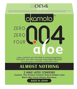 okamoto 004 aloe - best thin condom